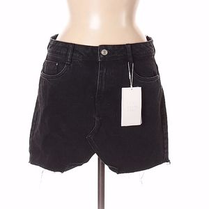 ZARA black denim skirt